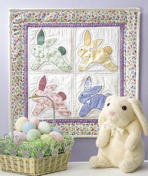 Vintage Bunnies Wall Quilt Pattern