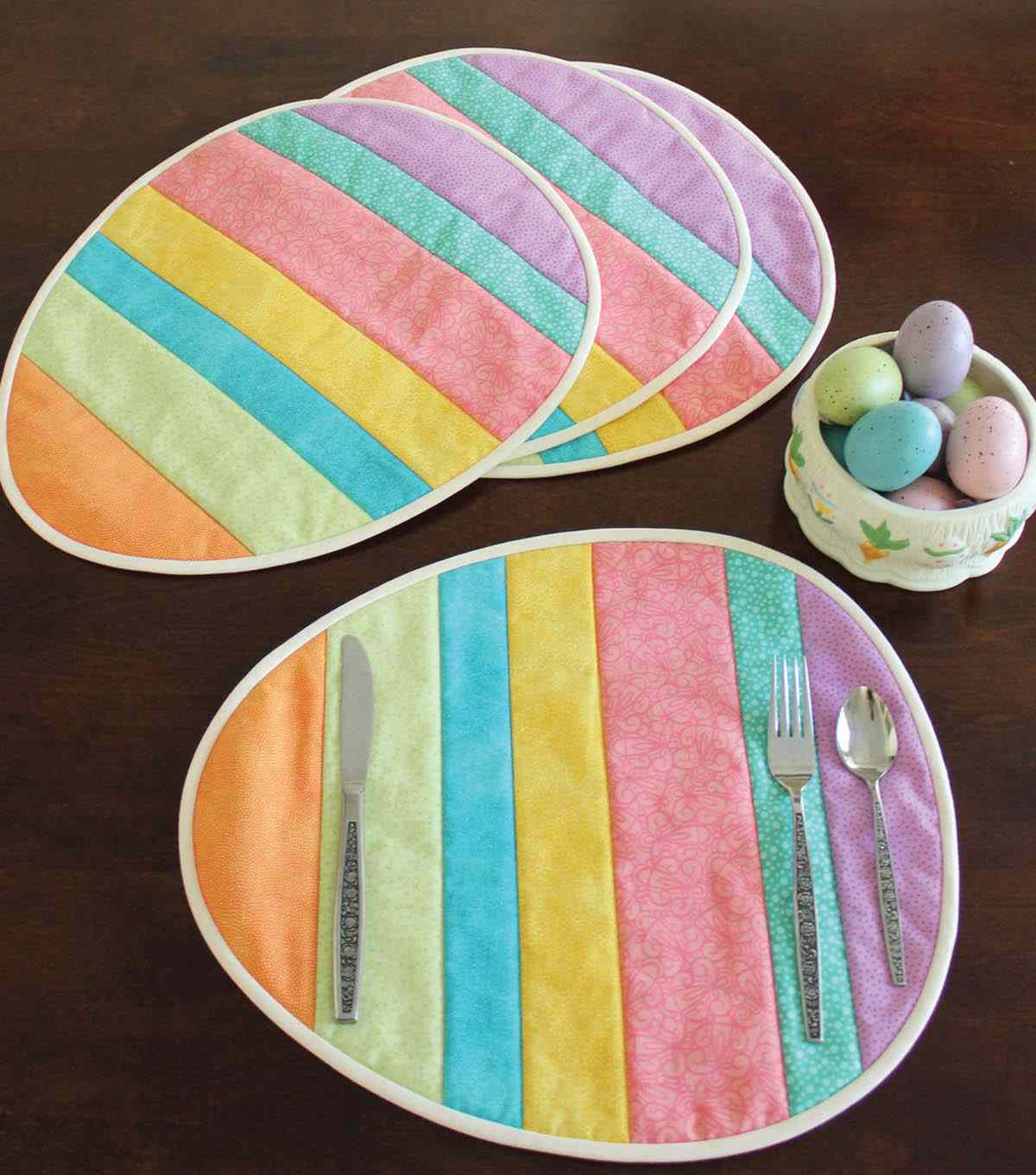 These Easter Egg Placemats Are