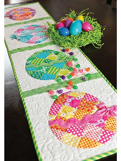 Patchwork Easter Table Runner