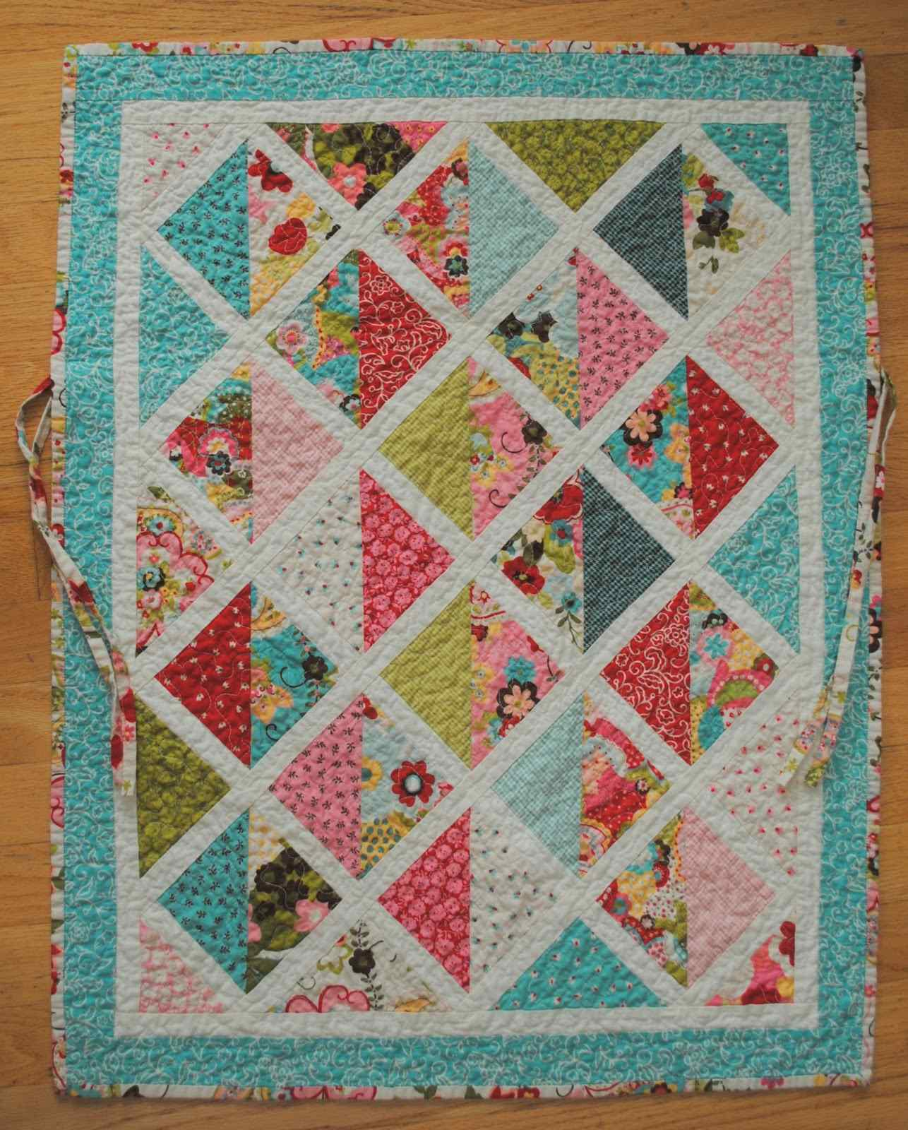 This Car Seat Quilt Ties In Place Quilting Digest