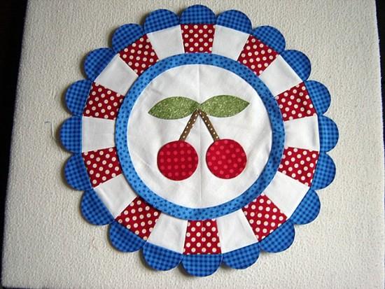 Cherry Blossom Marmalade Quilt Block
