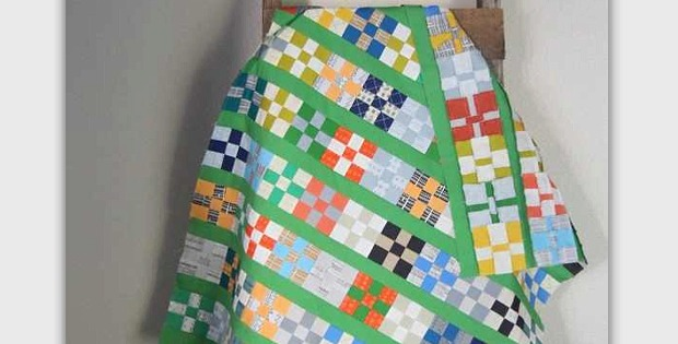 Give A 9 Patch Quilt A New Look With Colorful Sashing Quilting Digest