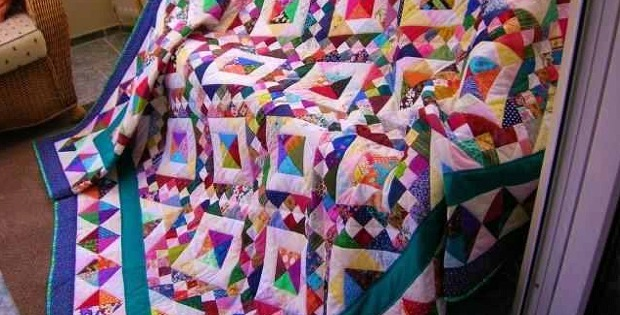 Jacob's Ladder Scrap Quilt