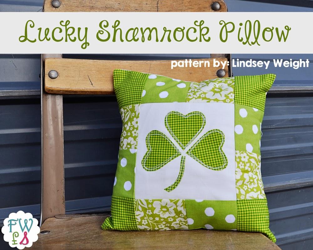 Lucky Shamrock Pillow