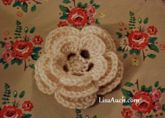 Crocheted 3-Layer Flower