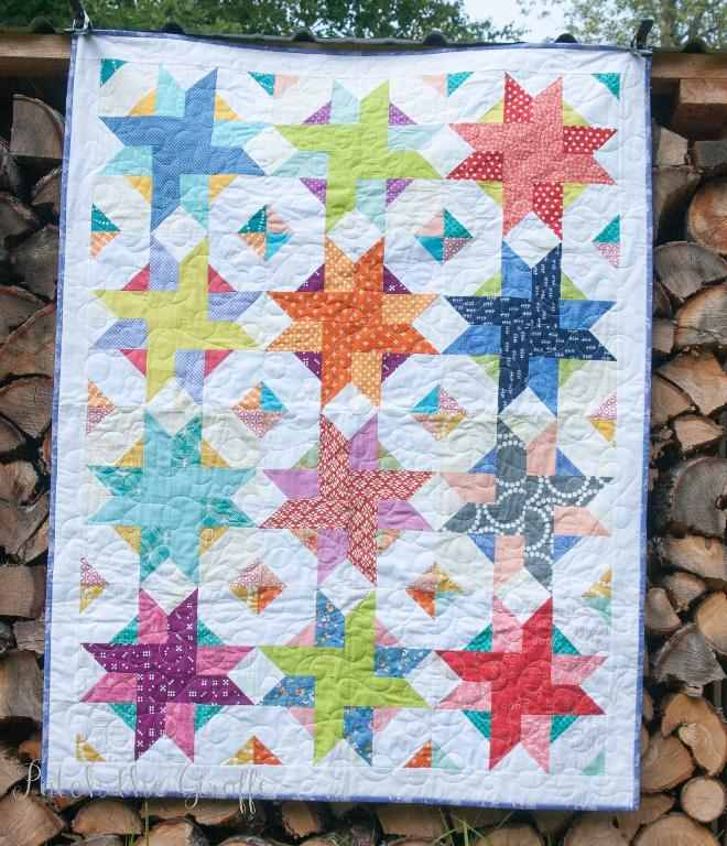 Quilt Pattern For Pinwheels : Cheerful Pinwheels Give Movement to This Quilt - Quilting Digest