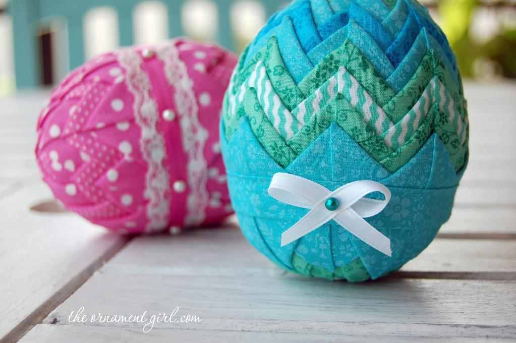 Folded Fabric Easter Eggs Quilting Digest