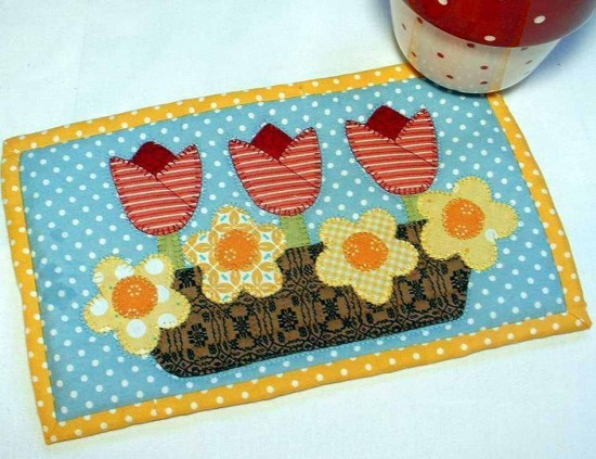 Sweet Spring Mug Rug Is Just One Of Several In This Set