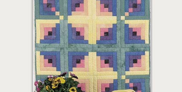 Updated Log Cabin Wall Quilt