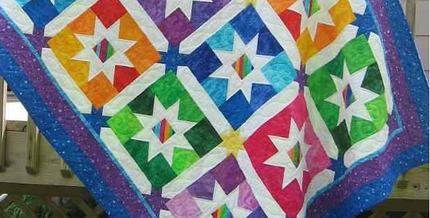 Jelly Bean Stars Quilt