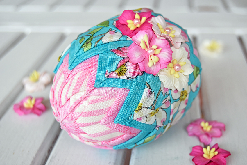 Folded Fabric Easter Eggs