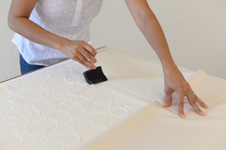 Easiest Way to Baste a Quilt
