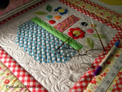 Scrappy Spring Baskets Quilt