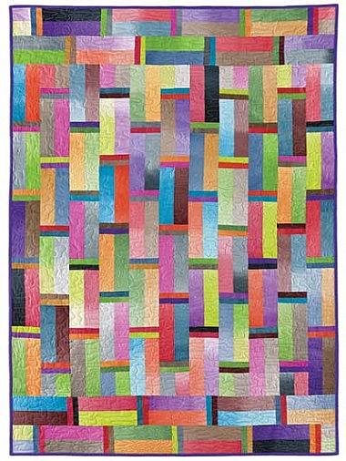 Rainbow Square Quilt Pattern