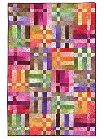 """""""Weave"""" Strip Quilt Pattern"""