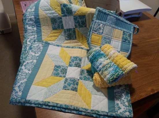 Quilted Kitchen Set by Valerie Mills