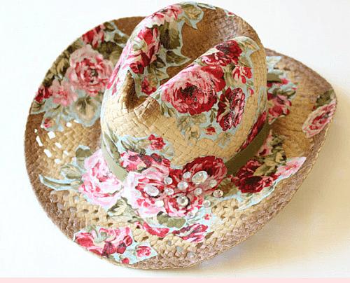 Fabric Cowgirl Hat Tutorial
