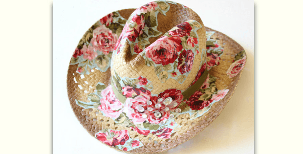 Decorate A Straw Hat With Fabric Quilting Digest