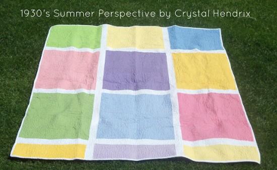 1930s Summer Perspective Quilt