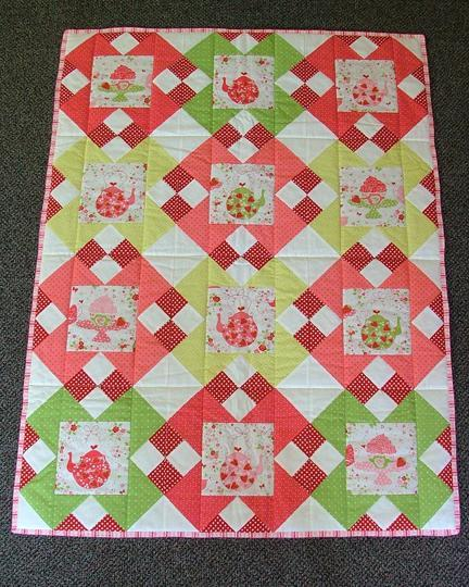 Strawberries and Tea Quilt