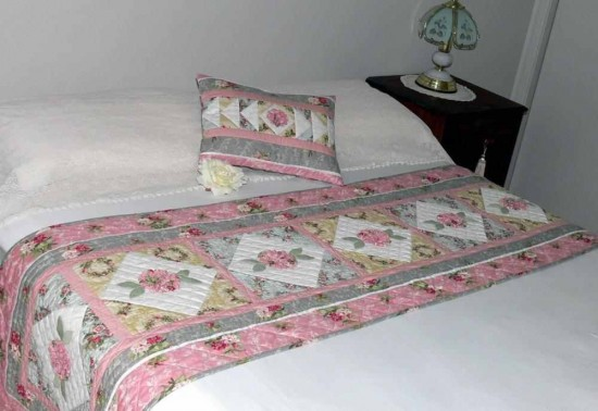 Pastel Panache Bed Runner and Pillow