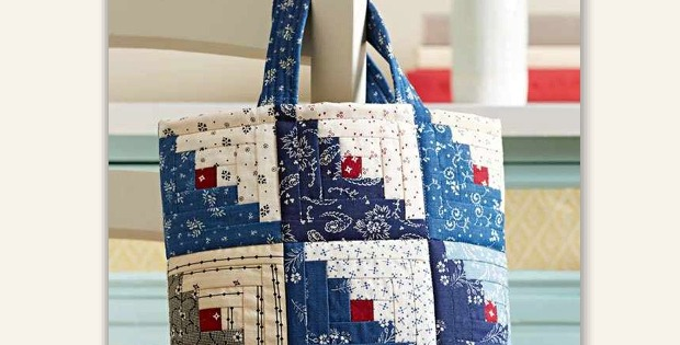 Log Cabin Tote Bag