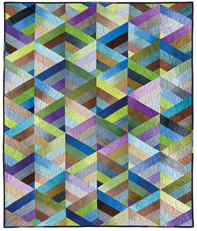 This Quilt Almost Seems 3 Dimensional Quilting Digest