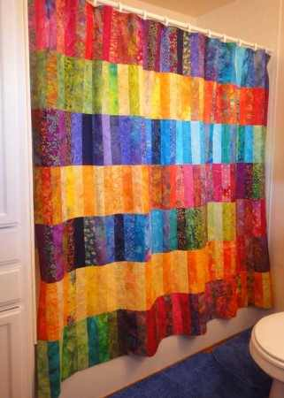 Jelly Roll Shower Curtain
