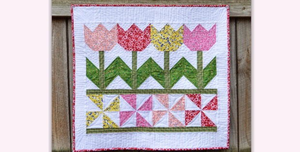 Tulip Time Quilt Is A Breeze To Make Quilting Digest