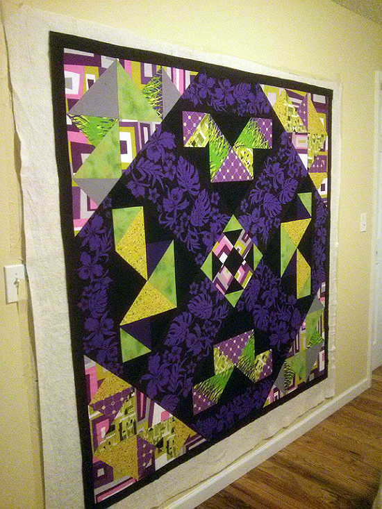 How to Baste Your Quilt on the Wall