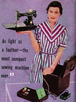 Singer Featherweight Ad
