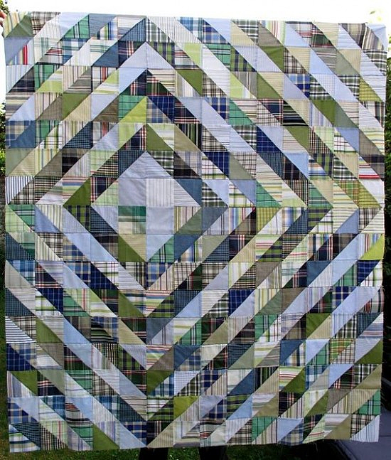 Quilts from Men's Shirts