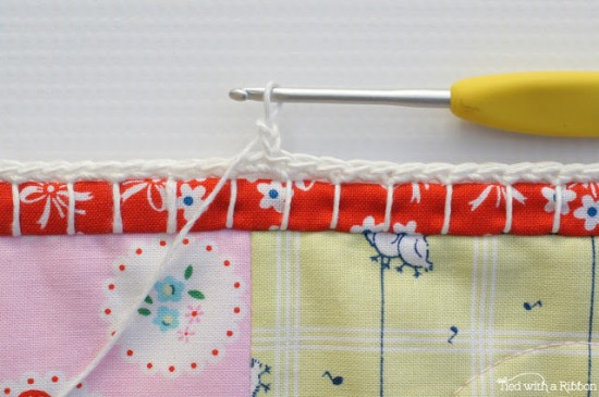 Crochet Trim Baby Quilt