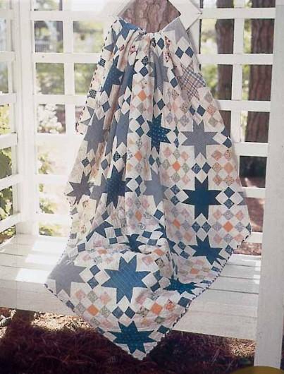 Checkered Star Vintage Quilt Pattern