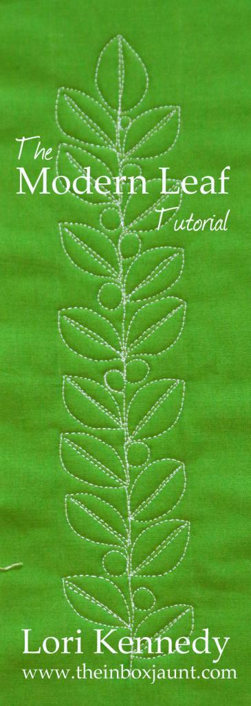 Modern Leaf Free Motion Quilting Motif