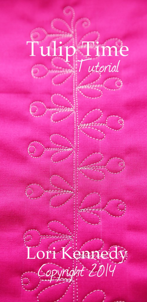 Tulip Time Quilting Motif