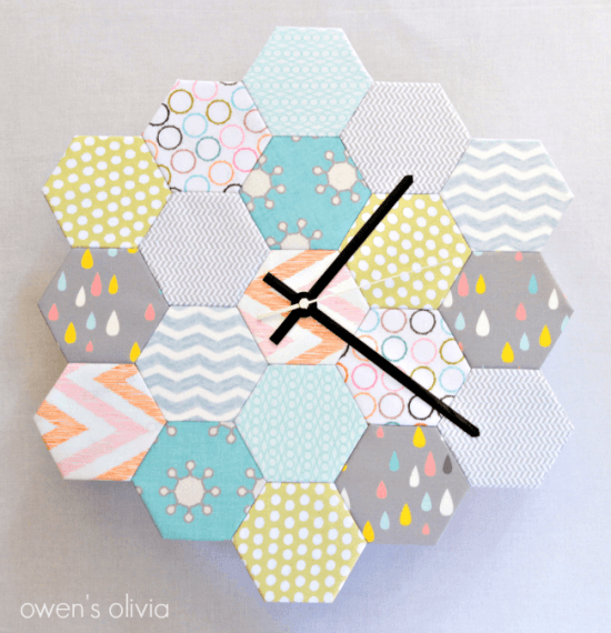 Clock Made of Hexies