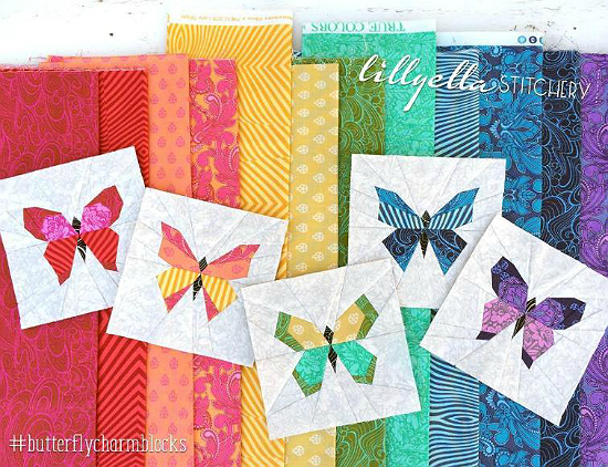 Butterfly Charm Blocks