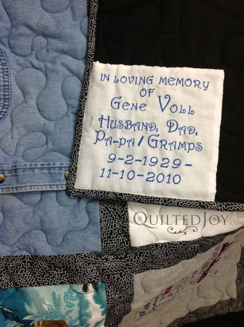 Memory Quilt Label