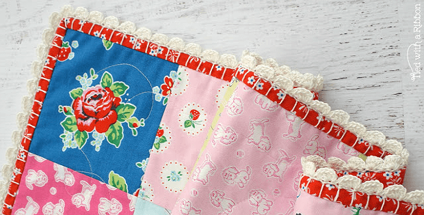 Crocheting A Baby Quilt : Crochet Trim Makes This Baby Quilt So Special - Quilting Digest