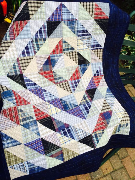 Quilts from Men's Shirts - Quilting Digest : quilt from old shirts - Adamdwight.com