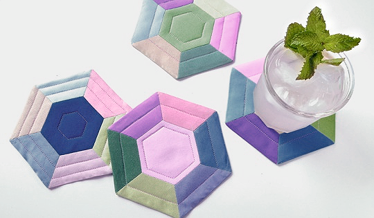 Colorful Hexie Coasters Tutorial