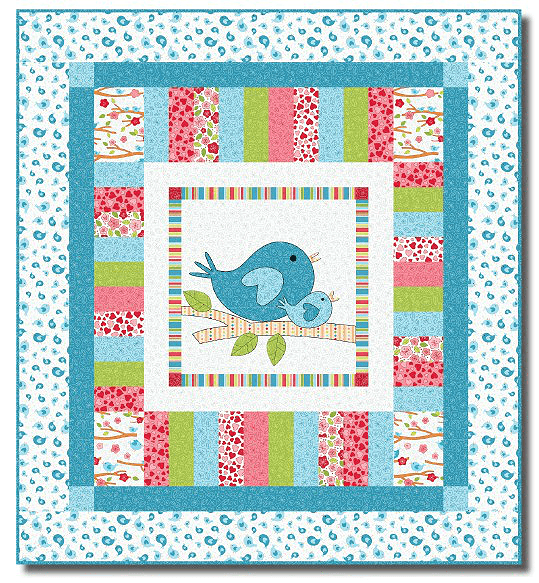 Quilting Digest Free Patterns : A Sweet Quilt for New Moms - Quilting Digest
