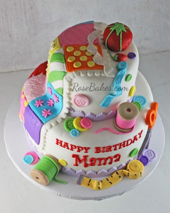 Quilting Cake Designs : Beautifully Artistic Cakes for Quilters - Quilting Digest