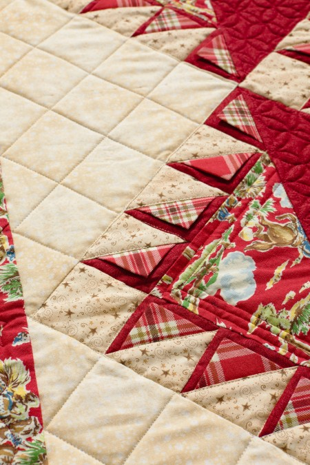 How to Piece Prairie Points Into a Quilt
