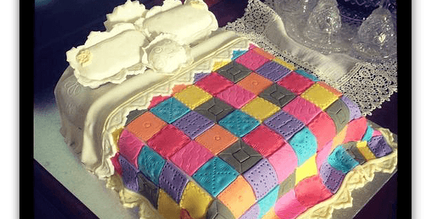 Bed with Quilt Cake