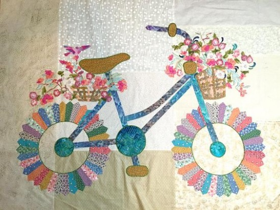 Bicycle Quilt by Sally Manke