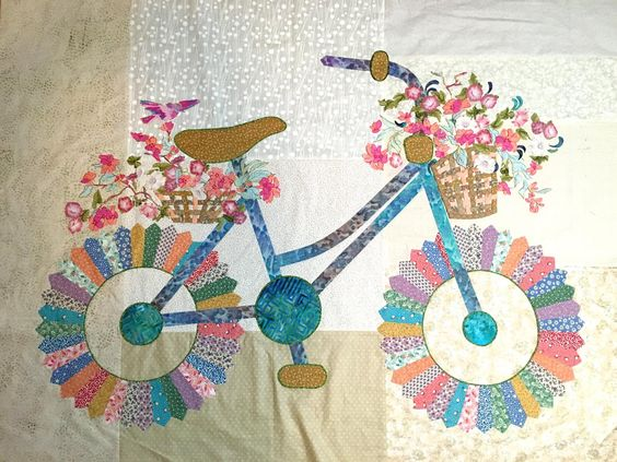 Dresden Plates Made Into A Bicycle Quilting Digest