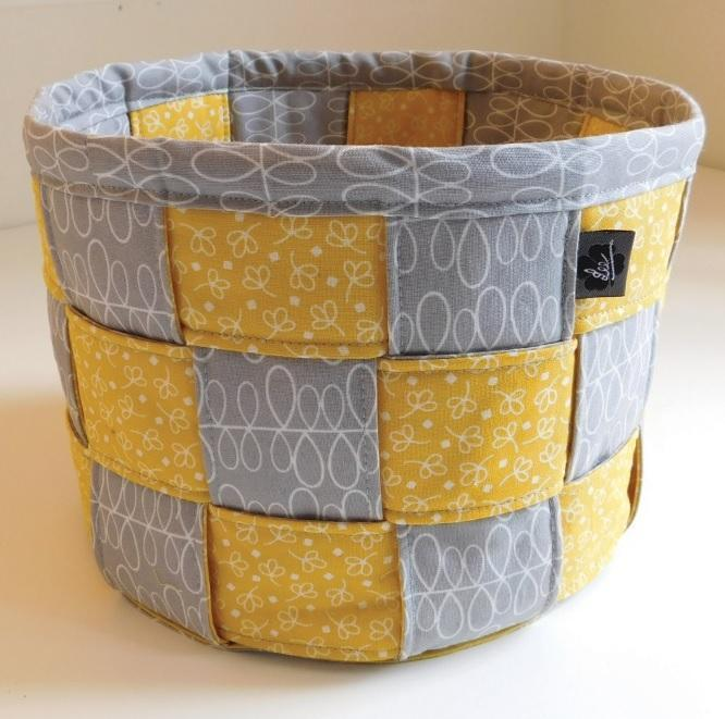 How To Weave A Basket From Fabric : A lovely woven basket for storage and display quilting