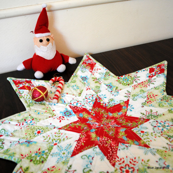Lone Star Christmas Table Topper